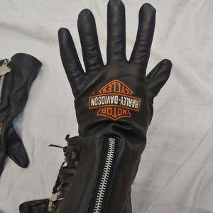VTG Harley Davidson Fringe Gloves Faux Leather XS
